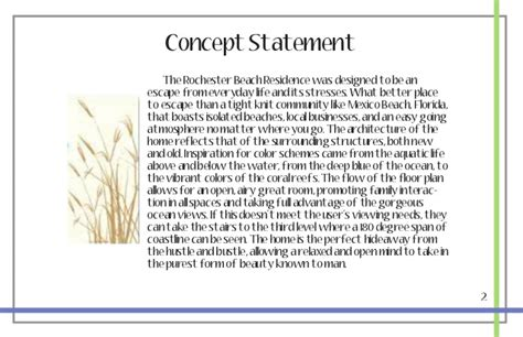 concept statement