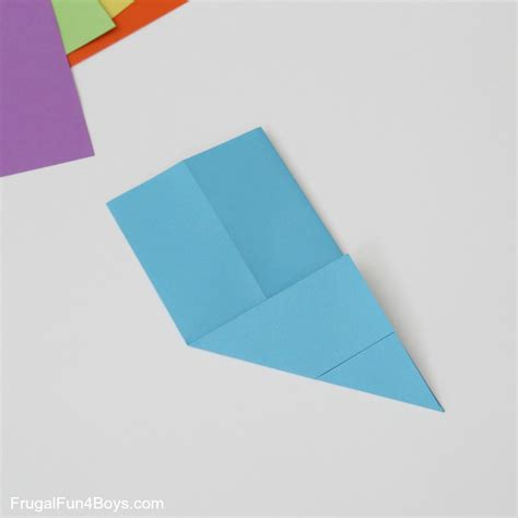 Paper Folding Cube - how to fold origami paper cubes frugal for boys and