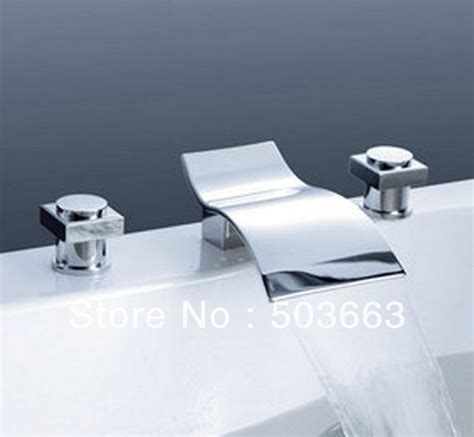 wave waterfall spout bathroom basin mixer tap bathtub 3