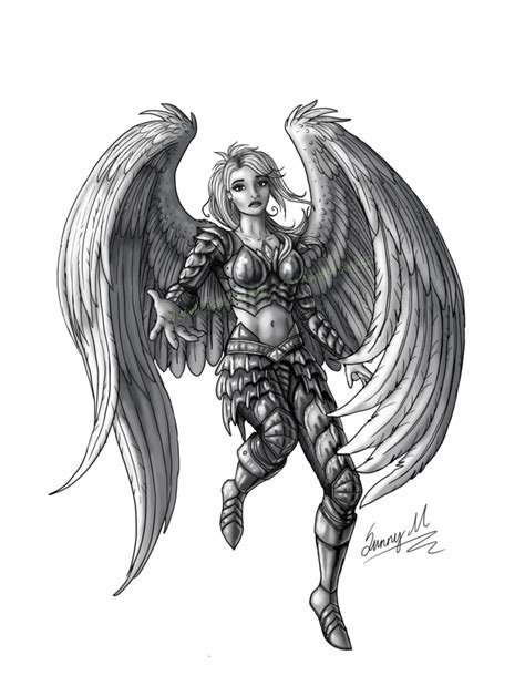 angel tattoo png angel tattoo commission by sunima on deviantart