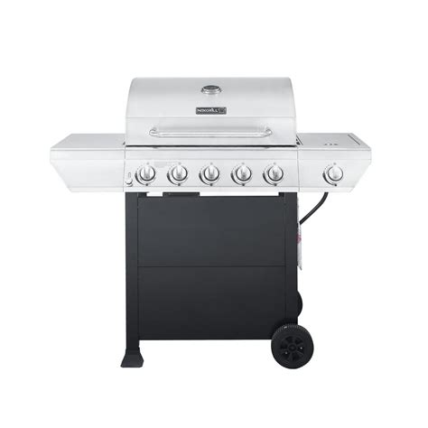 nexgrill 5 burner propane gas grill in stainless steel