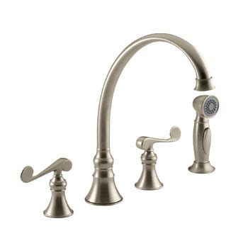 kohler revival kitchen faucet kohler k 16109 4 bv revival two handle kitchen faucet