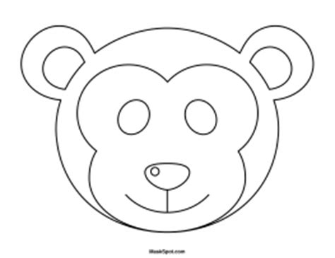 printable monkey mask template image gallery monkey face template