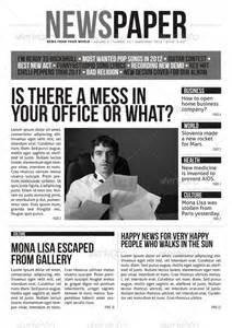 Modern Newspaper Template indesign modern newspaper magazine template a4 by zigazi83