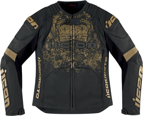 Prime Jacket Gold icon womens overlord prime leather motorcycle jacket