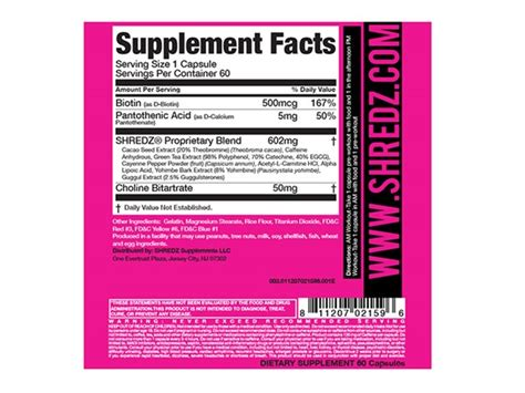 Shredz Detox For Side Effects by Shredz 30 Day Lean Stack For