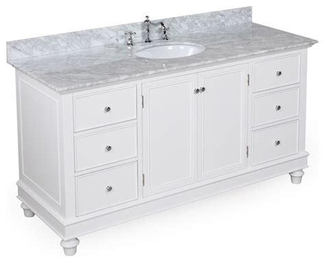 Bathroom Vanities 60 Single Sink by 60 In Single Sink Bath Vanity Carrara White Transitional Bathroom Vanities And Sink