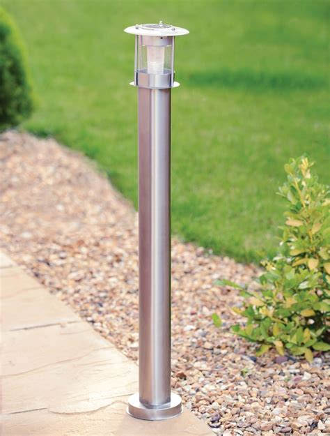 solar light posts for driveways new stainless steel 90cm outdoor patio driveway garden led