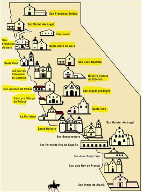 california missions map california missions 1973 2014