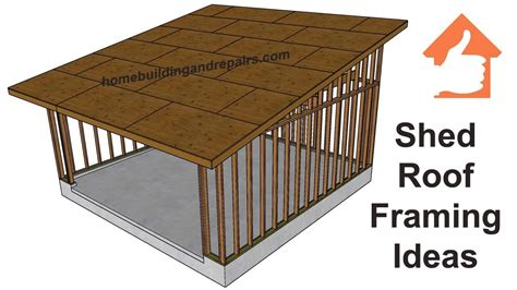 Shed Roof Framing Design