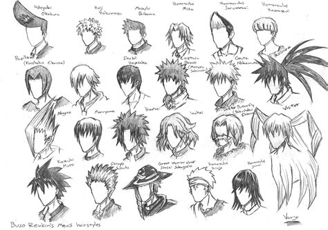 anime hairstyles with names cool anime hairstyles newhairstylesformen2014 com