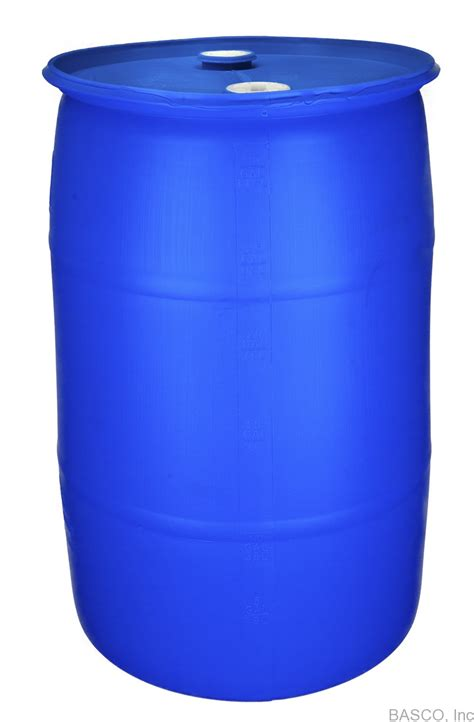 55 gallon blue water storage container