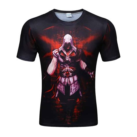 Print T Shirt assassins creed 3d print t shirt sleeve t shirt