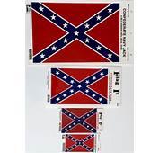Confederate Flag Waterproof Vinyl Decal  Large