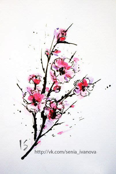 cherry blossom watercolor tattoo watercolor tree flowers cherry blossom