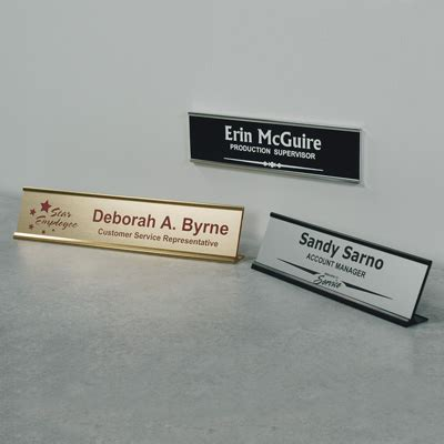 military desk name plates office the many uses of customized nameplates seton blog