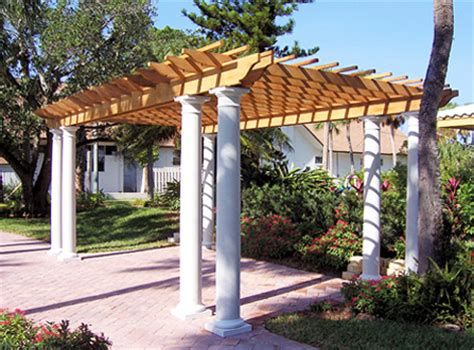 Tiny Houses Floor Plans Columned Pergola No Cp4 By Trellis Structures