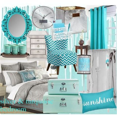 Turquoise Room Decor Turquoise Comforter Set Silver And Turquoise Bedroom Polyvore Bedroom Ideas Pinterest