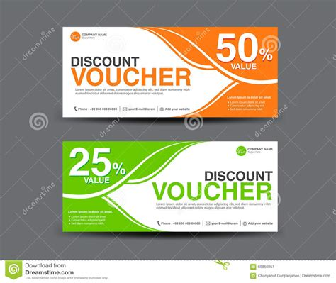 Voucher Promo discount voucher template coupon design ticket card design stock vector image 69856951