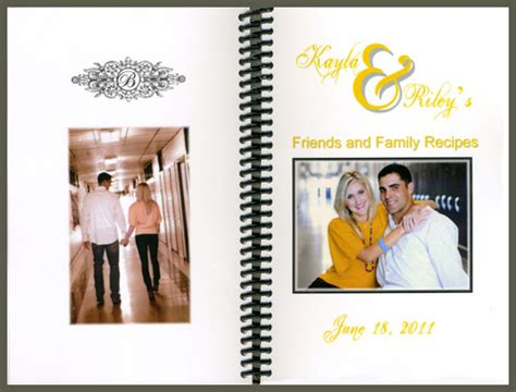 Friend And Family Cookbook wedding favor cookbooks from friends and family cookbooks