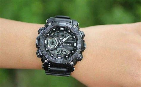 New Jam Tangan Pria Digietc Original Sporty Rubber Black jual beli new jam tangan sport digitec dg