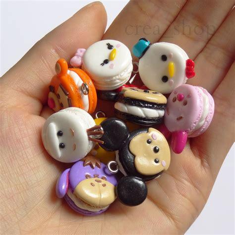 jual disney tsum tsum macarons handmade fimo polymer