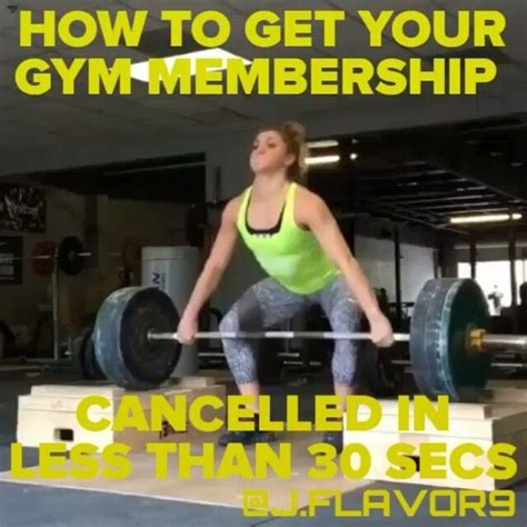 Girl Gym Meme - how to get your gym membership cancelled quick diet and