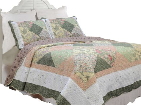 Patchwork Grace - grace forest green patchwork 100 cotton quilt set