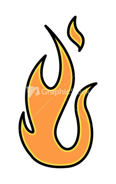 simple fire flame vector illustration