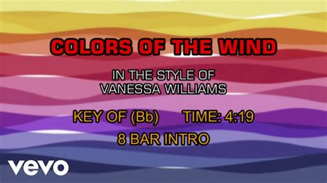 colors of the wind karaoke williams colors of the wind karaoke