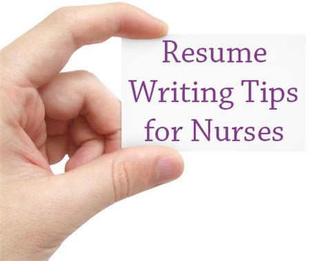 6 resume writing tips for nurses