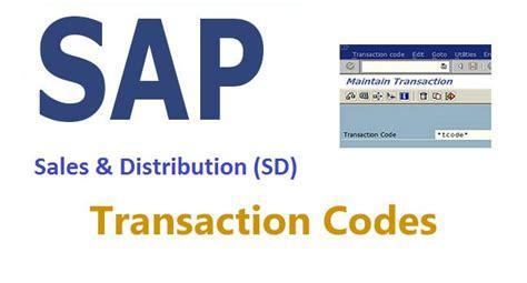 sap tutorial sales and distribution sd transaction codes sales and distribution stechies