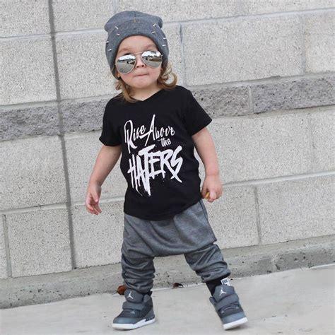 2015 fashion hip hop babies 2pcs toddler kids baby boys letter short sleeve t shirt
