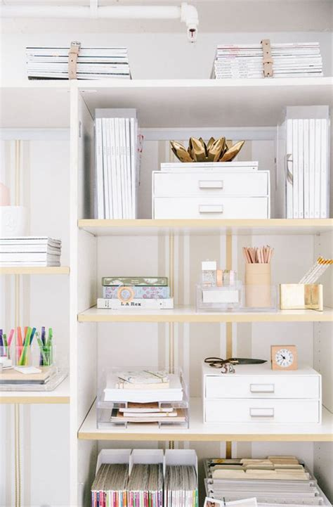 decorate office shelves office space decor ideas catherine masi