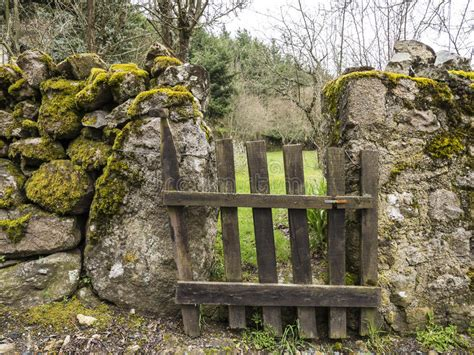 wood gate  countryside stock image image  wall