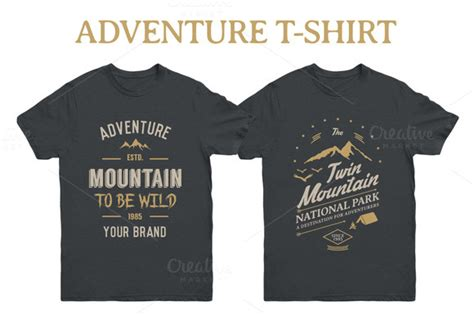 T Shirt Adventure 3 adventure t shirt templates on creative market
