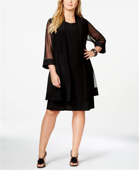 Fashion Dress Xy61794 Size M r m richards r m richards plus size embellished cocktail dress duster jacket in black lyst