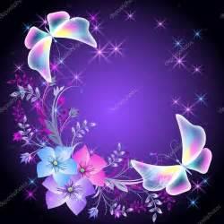 bello fondo de mariposas con una mensaje de reflexin para fondo brillante con flores y mariposas vector de stock