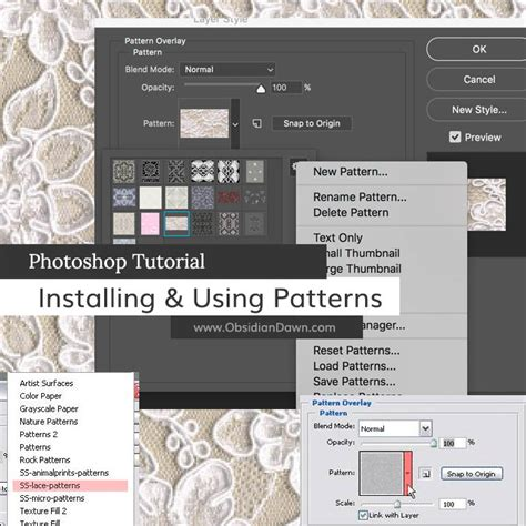 How To Install Patterns In Photoshop Cs6 On A Mac Youtube | installing photoshop patterns tutorial obsidian dawn