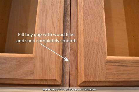 how to install a cabinet filler wood filler for cabinet doors home everydayentropy com