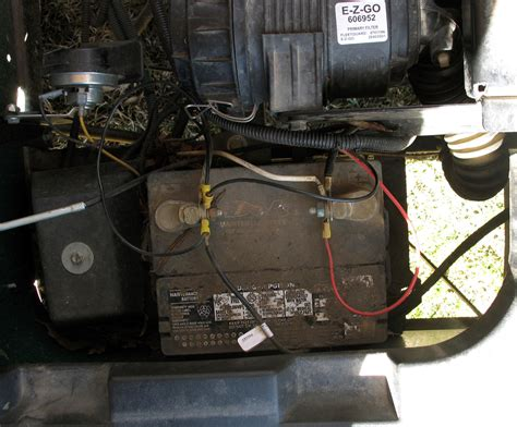 electrical wiring gas golf cart battery ezgo