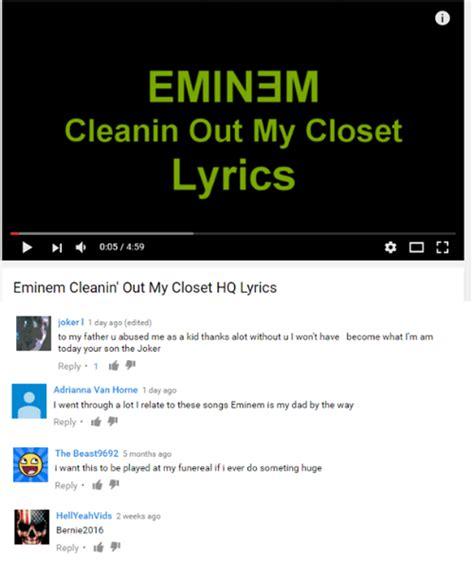 Lyrics Cleanin Out Closet Eminem by Search Eminem Memes On Me Me