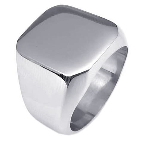 Ring Herren by Herren Ring Edelstahl Siegelring Silber De Ebay