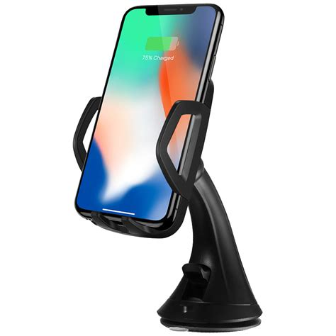 qi wireless charging car mount apple iphone x iphone 8 plus