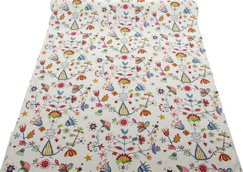 curtain fabric childrens 100 heavy cotton panama printed childrens curtain cushion