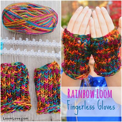 what can you knit on a loom wonderful diy loom knitted fingerless gloves and scarf