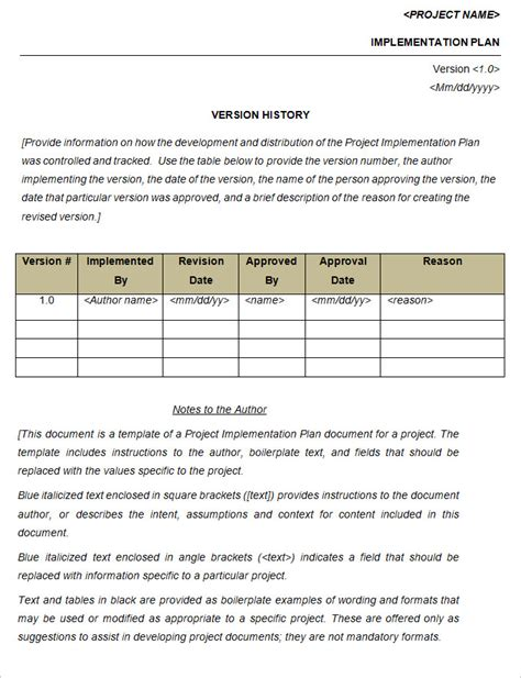 implementation plan sle template project implementation plan template 5 free word excel