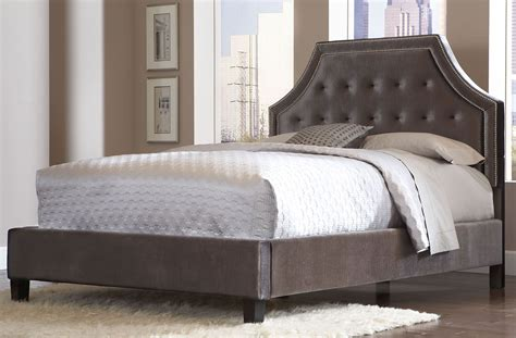 grey velvet bed wilshire boulevard grey velvet king upholstered bed 996