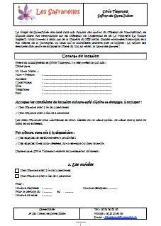 contrat location chambre les tarifs et disponibilit 233 s les safranelles