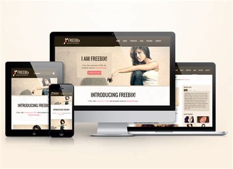 responsive template for freebix free responsive html template anariel design